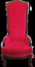 Red Velvet Throne Chair