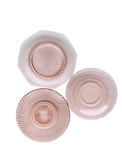Pink Depression Glass Dessert Plate