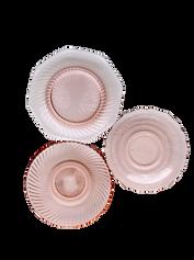 Pink Depression Glass Dessert Plate