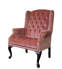 Bold Pink Wingback Chair