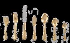 Gold Ornate Matching Flatware