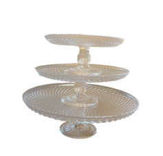 Stacking Crystal Cake Stand