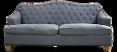 Gray Linen Tufted Sofa
