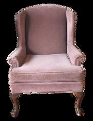Mauve Velvet Wingback Chair