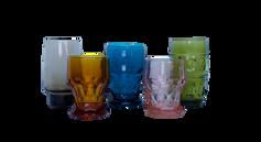 Stemless Colored Glassware