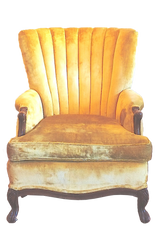 Yellow Deco Shell Chair