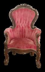 Red Velvet Victorian Armchair