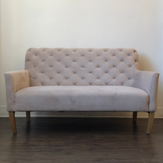 Light blush velvet settee