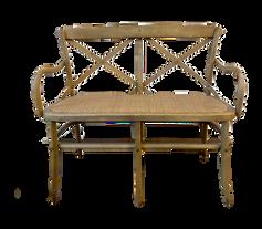 Wooden Cross-Back Settee