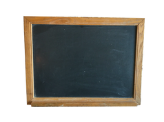 Wood Schoolhouse Chalkboard