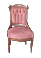 Pink Eastlake Chair