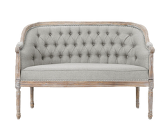 Gray Tufted Settee