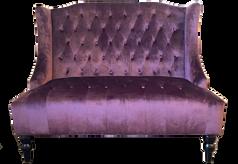 Purple Tufted Settee