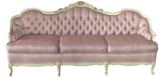 Pink Provinical Tufted Sofa