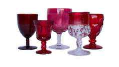 Red Water and Wine glass
