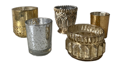 Assorted Mercury Glass Votives