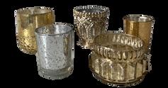 Assorted Mercury Glass Votives