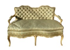Low Satin Settee
