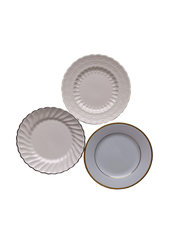 Neutral and Metallic Dessert/Bread Plate