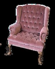 Light Plum Velvet Wingback Chair