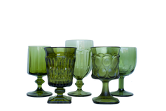 Green Water and Wine Glassware