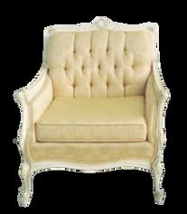 Light Yellow Provincal Armchair