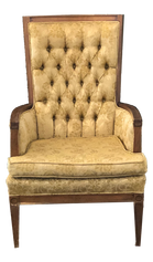 Olive Green-Gold Armchair
