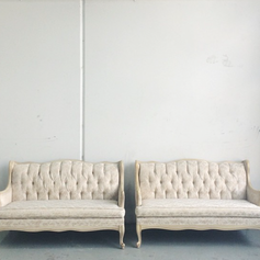 Cream provincial loveseat (1 available)
