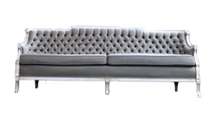 Pale Sage Green Tufted Sofa