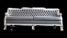 Pale Sage Green Tufted Sofa