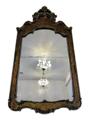 Pewter Ornate Mirror