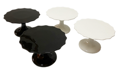 Black and White Glossy Cake Stand