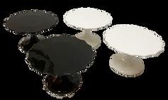 Black and White Glossy Cake Stand