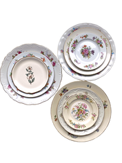 Large Floral Plate