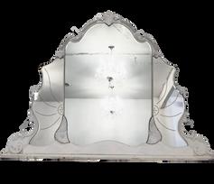 White Provinical Mirror