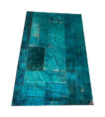 Teal Distressed Rug