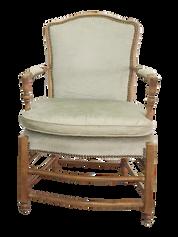 Pale Green Velvet Armchair