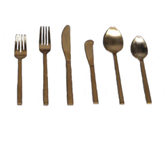 Matching Brushed Gold Flatware