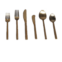 Matching Brushed Gold Flatware
