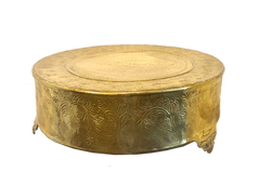 Large Gold Cake Drum