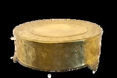 Large Gold Cake Drum
