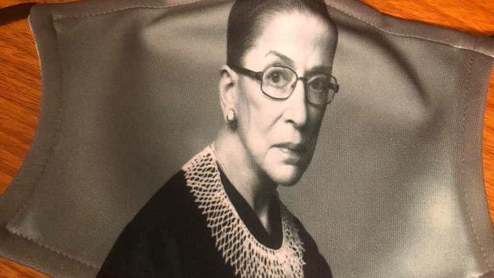 Greyscale Ruth Bader Ginsburg Mask
