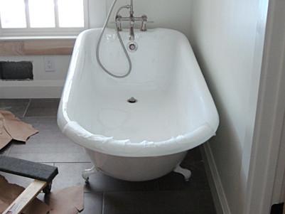 Clawfoot Bath Tub in Bathroom Remodel