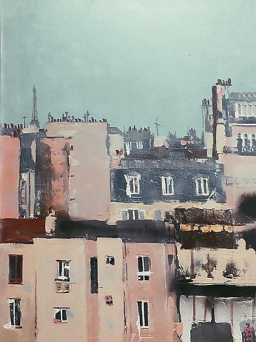 """Paris"" Acryl auf Leinwand 80x60cm"