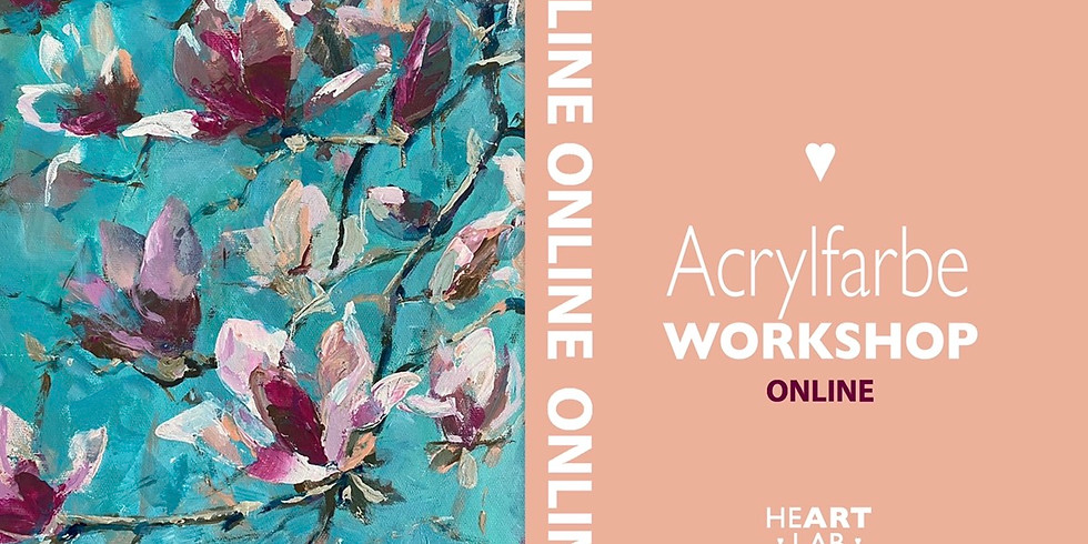 """Online Live Acrylfarbe """"Magnolie"""" Workshop für Erwachsene"""
