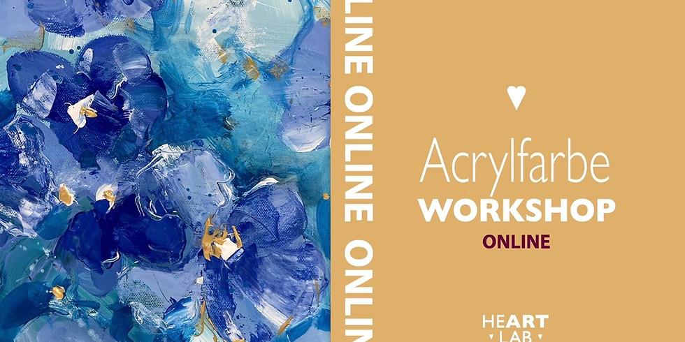 """Online Live Acrylfarbe """"Abstrakten Blumen"""" Workshop für Erwachsene"""