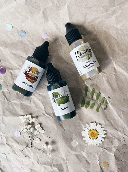 Alcohol Ink/ Schoko & Green Tea