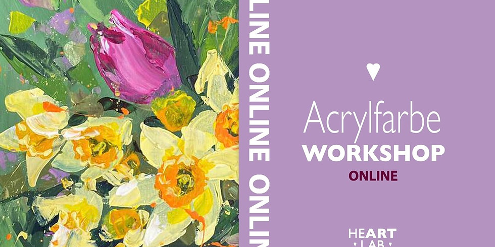 """Online Live Acrylfarbe """"Blumenstrauß"""" Workshop für Erwachsene"""