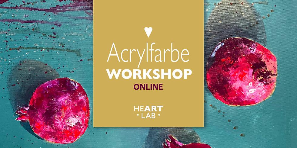 """Online-Live Workshop Acrylfarbe  """"Vitamin Kunst"""" 26.02."""