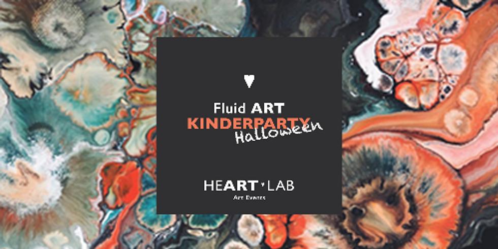 FLUID ART Kinderparty  Halloween Edition